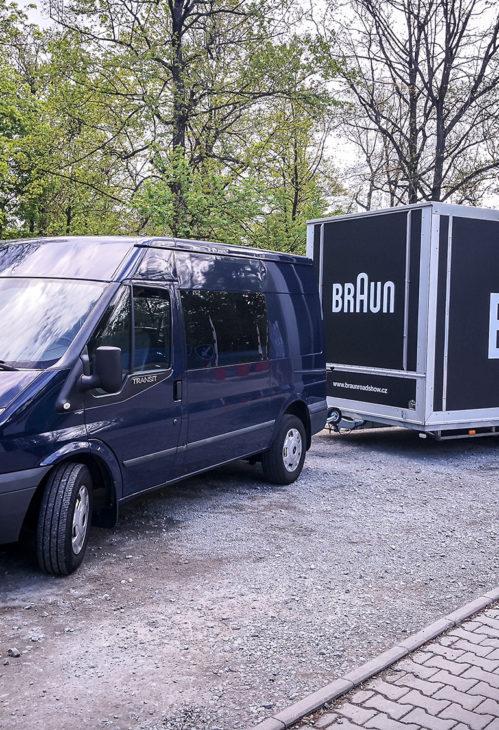 BRAUN Roadshow 2019 - příjezd mobilního trucku